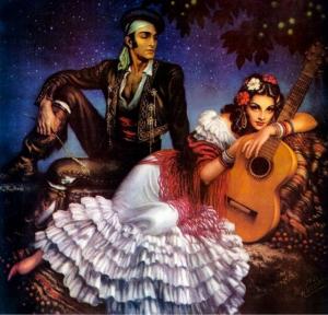 Gitanos en la noche de Santiago